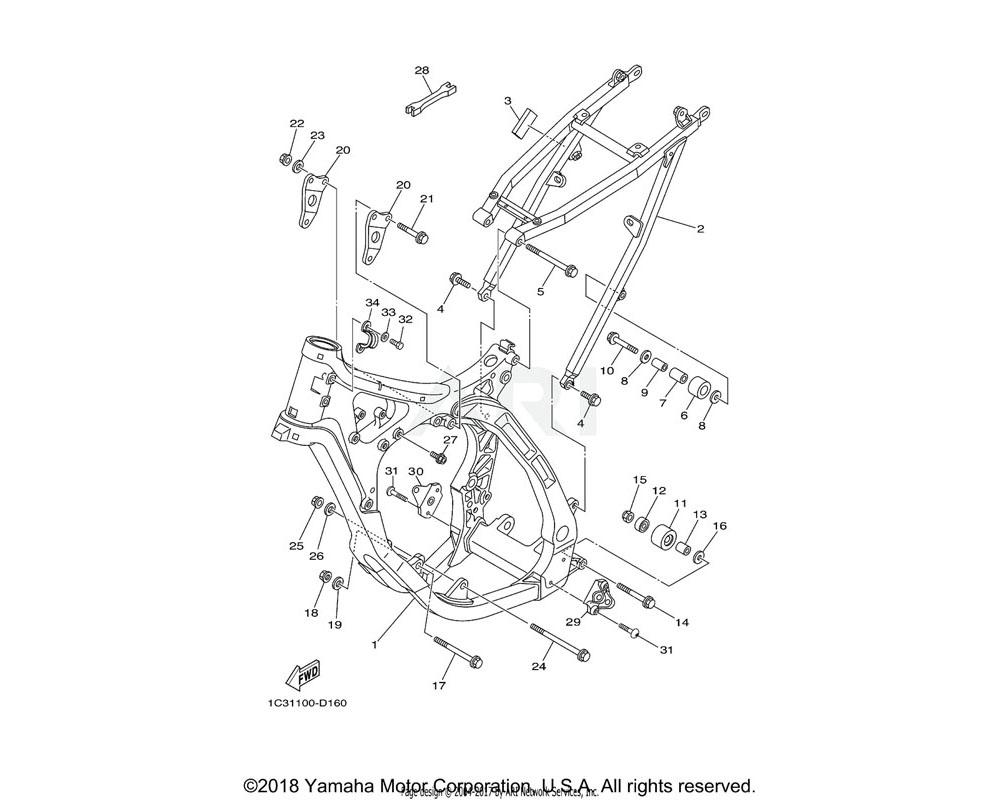 Yamaha OEM 90105-10072-00 BOLT, FLANGE