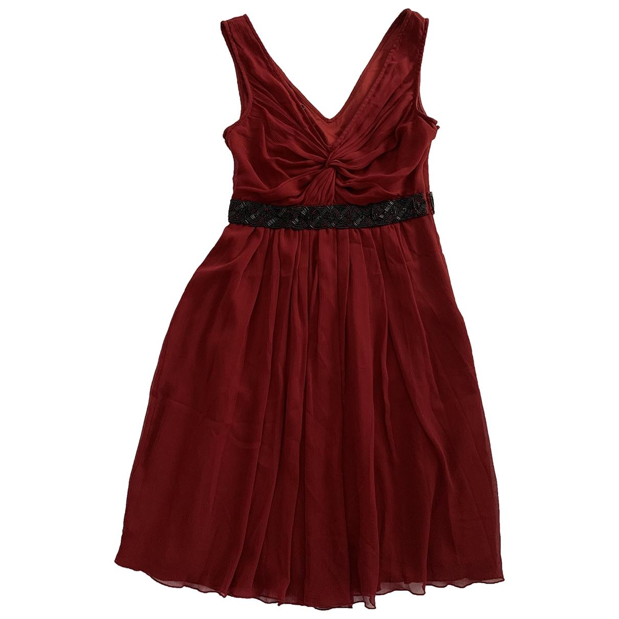 Mango \N Kleid in  Bordeauxrot Polyester