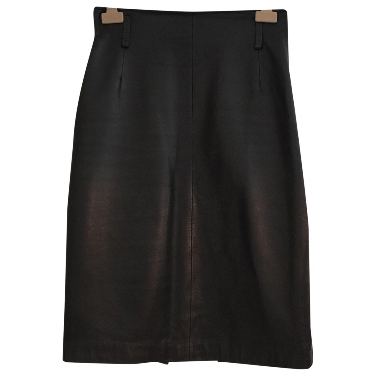 Moschino - Jupe   pour femme en cuir - noir