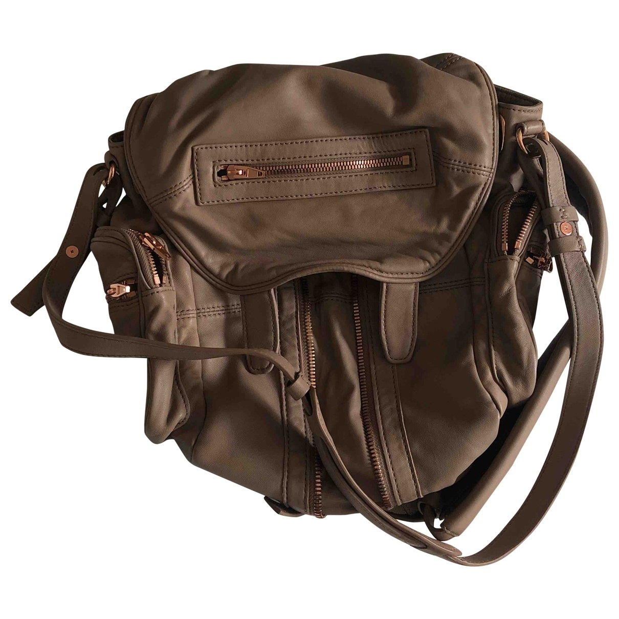 Alexander Wang Marti Camel Leather backpack for Women \N