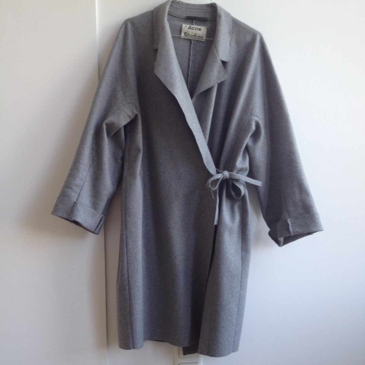 Acne Studios \N Grey Wool coat for Women 36 FR