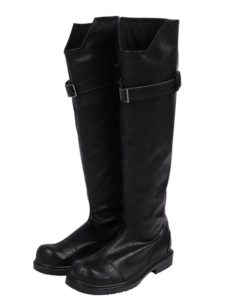Milanoo Final Fantasy Sephiroth Cosplay Shoes FF 7 Remake PU Cosplay Boots