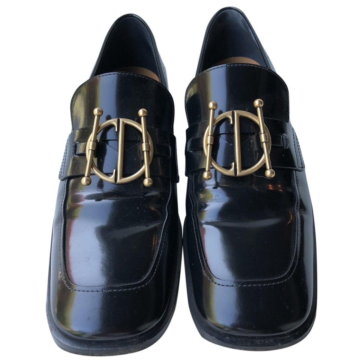 Dior DiorDirection Black Patent leather Flats for Women 38 EU