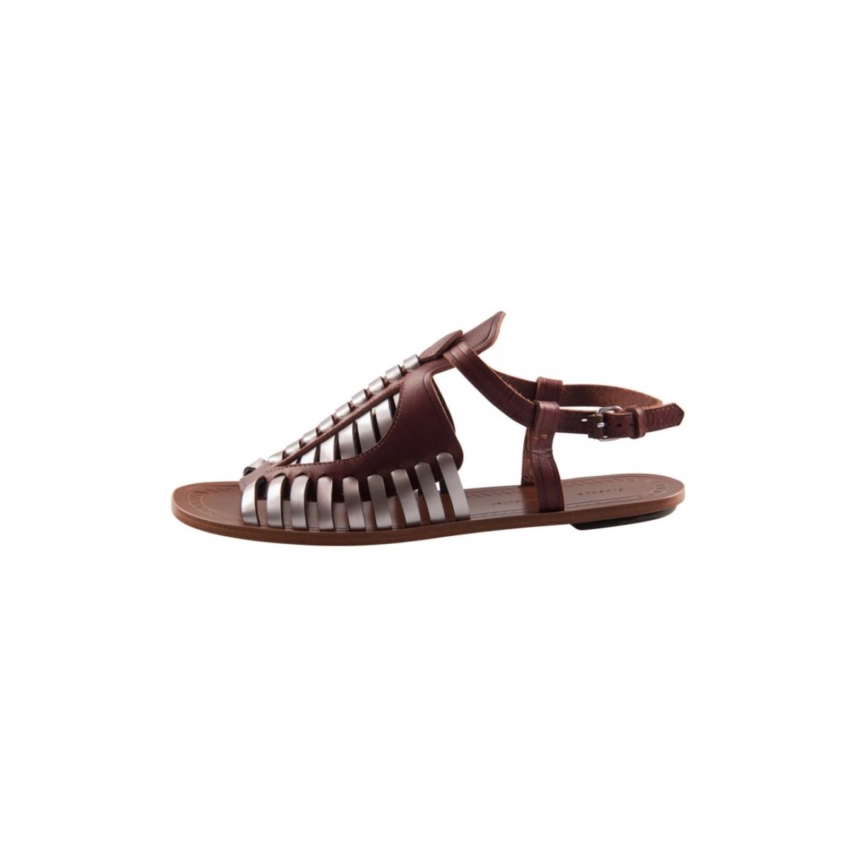 Proenza Schouler - Sandales   pour femme en cuir - marron