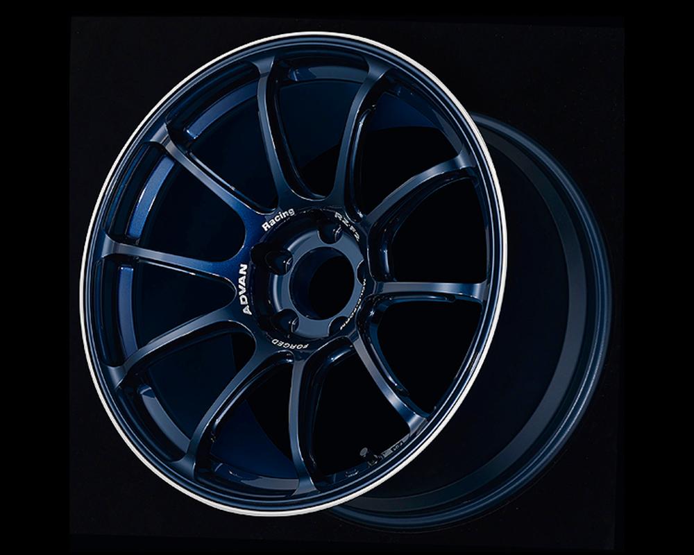 Advan RZ-F2 Wheel 18x9.5 5x114.3 12mm Racing Titanium Blue & Ring