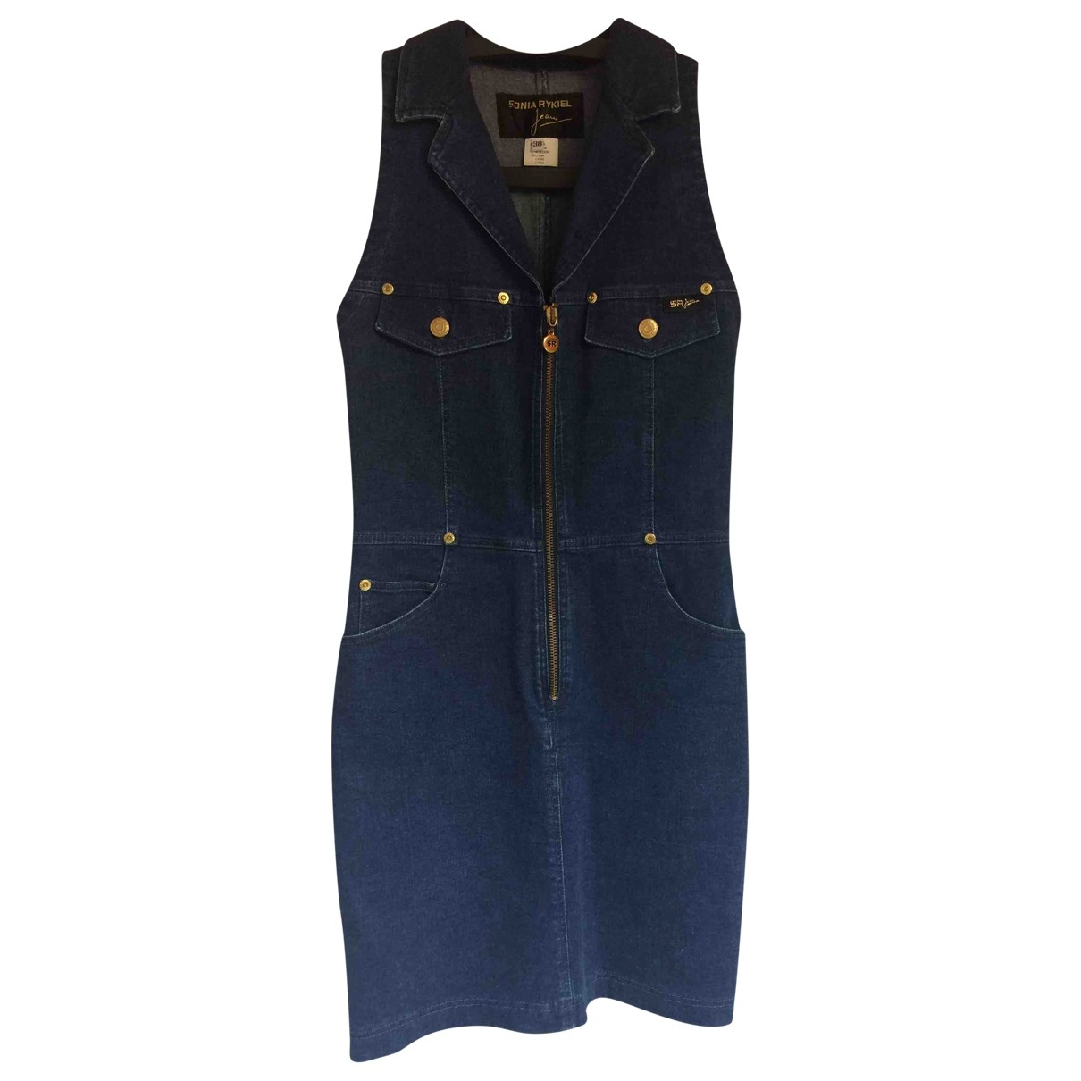 Sonia Rykiel \N Kleid in  Blau Denim - Jeans