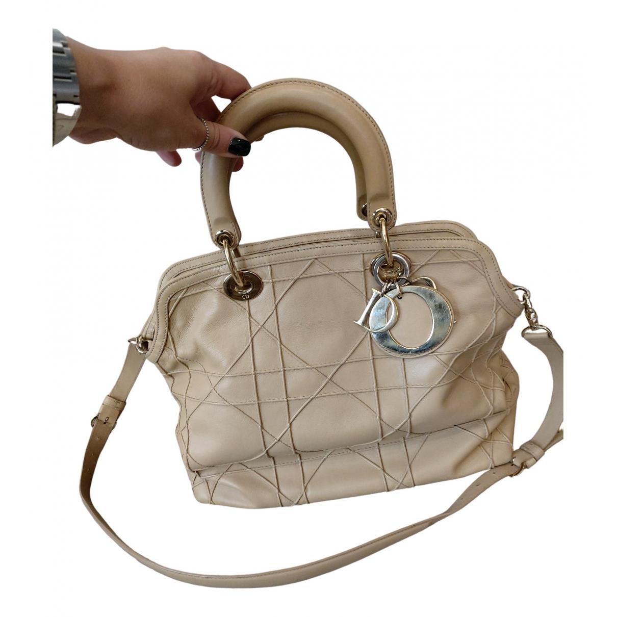 Dior - Sac a main Granville pour femme en cuir - beige