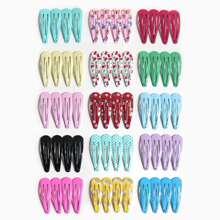 60pcs Baby Rainbow Pattern Hair Clip