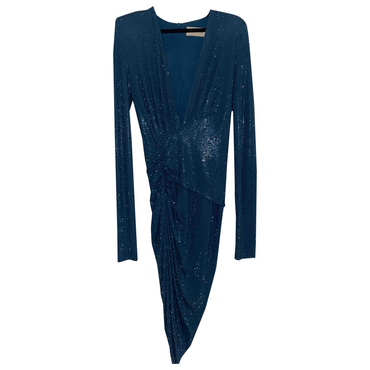 Alexandre Vauthier \N Kleid in  Blau Mit Pailletten