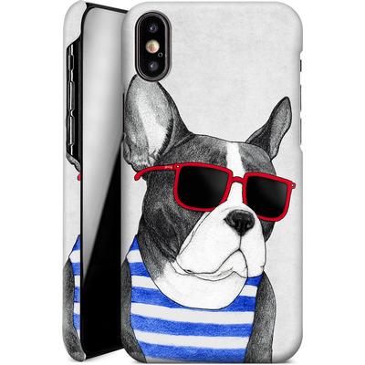 Apple iPhone XS Smartphone Huelle - Frenchie Summer Style von Barruf