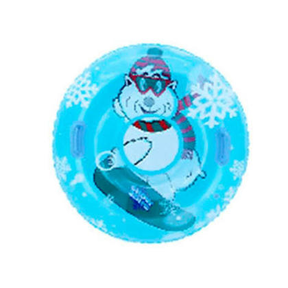 Inflatable Snow Tube with 2 Handles Freeze Resistant -25℃ Weight Capacity 120lbs 38