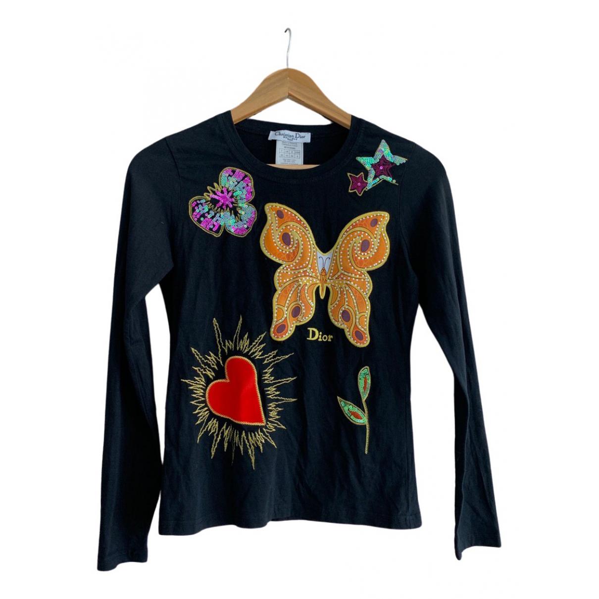 Dior \N Black Cotton  top for Women 38 FR