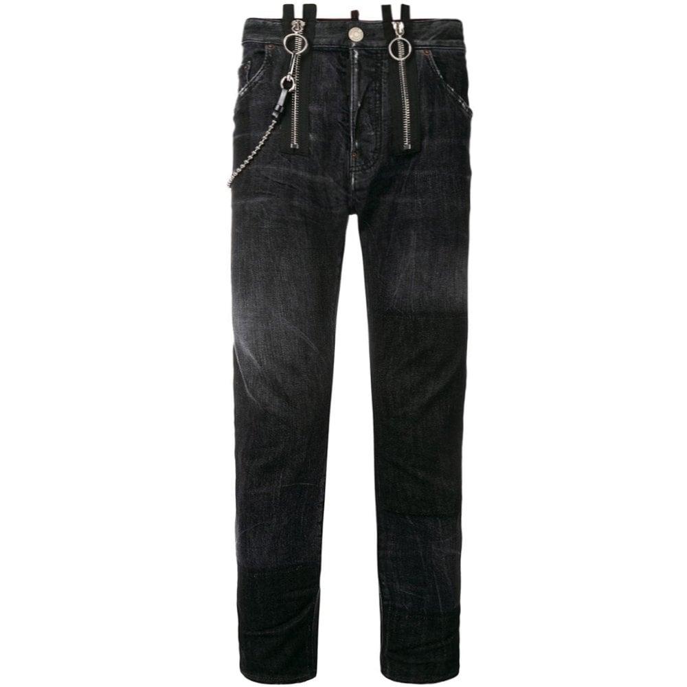Dsquared2 Buckle Skater Jeans Black Colour: BLACK, Size: 30 30