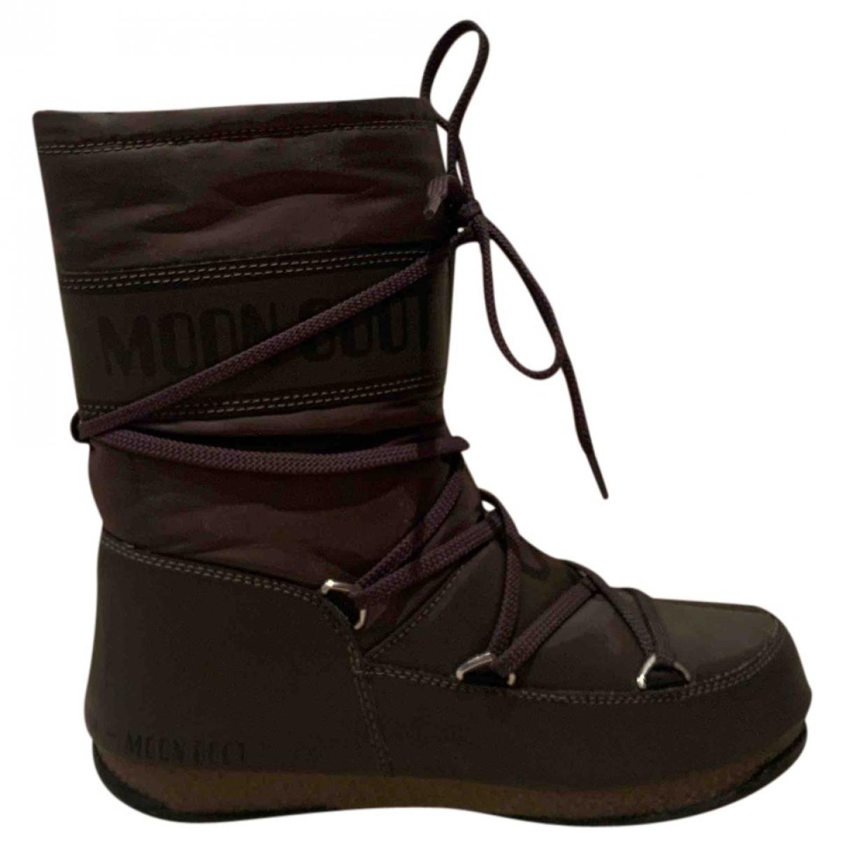 Moon Boot \N Grey Boots for Women 38 EU