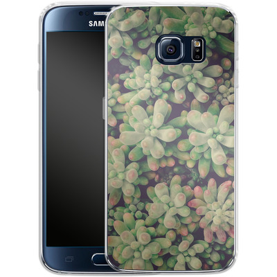Samsung Galaxy S6 Silikon Handyhuelle - Kingwood Soft Cactus von Joy StClaire