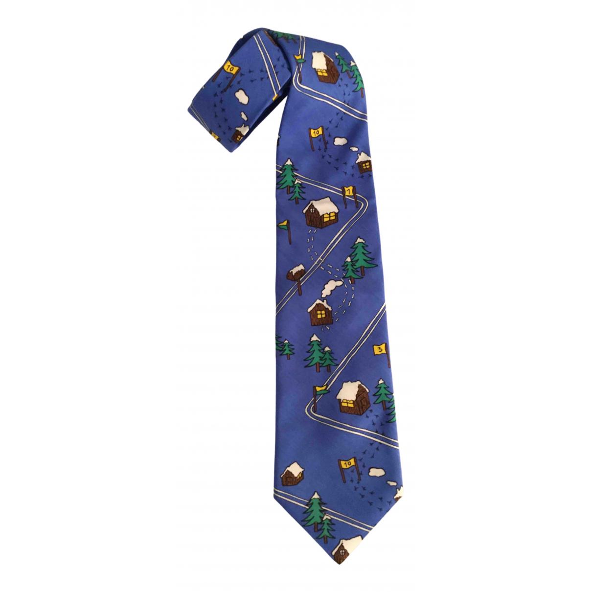 Jc De Castelbajac \N Krawatten in  Marine Seide