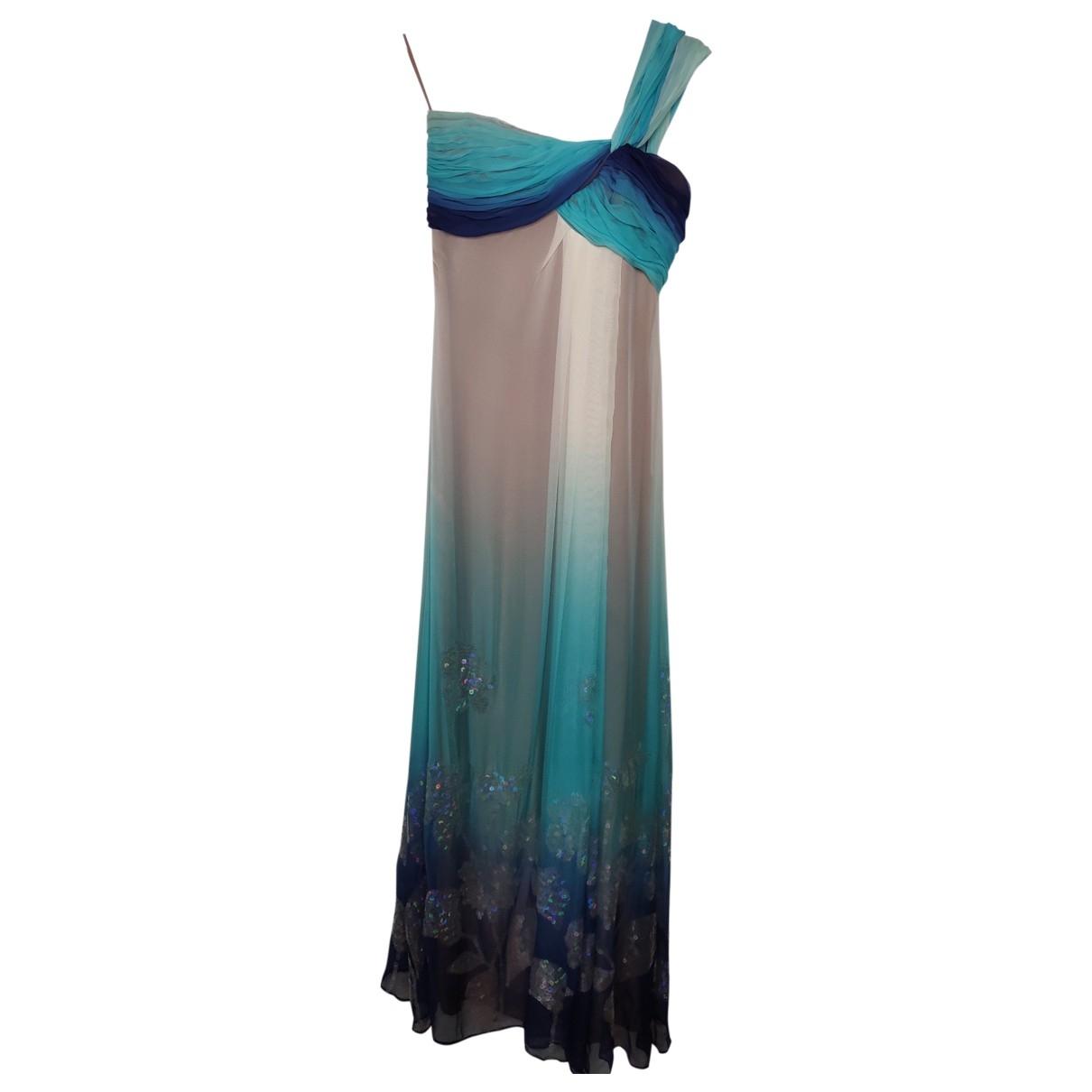 Emanuel Ungaro - Robe   pour femme en soie - bleu