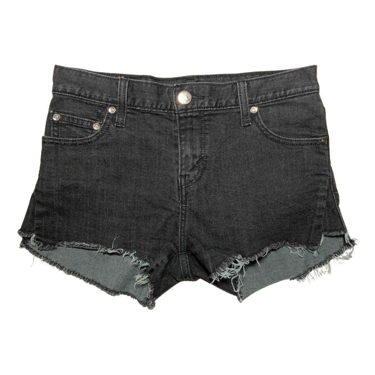 Levis \N Shorts in  Schwarz Baumwolle - Elasthan
