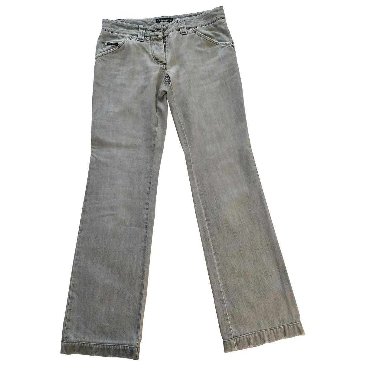 Dolce & Gabbana \N Grey Cotton Jeans for Women 29 US
