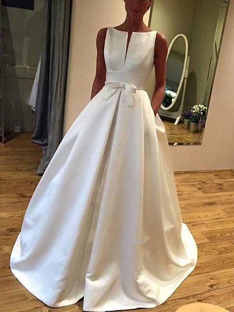 Ericdress A-Line Pockets Bowknot Hall Wedding Dress