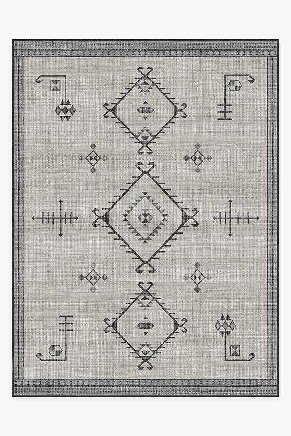 Washable Rug Cover | Damali Grey Overdye Rug | Stain-Resistant | Ruggable | 9'x12'
