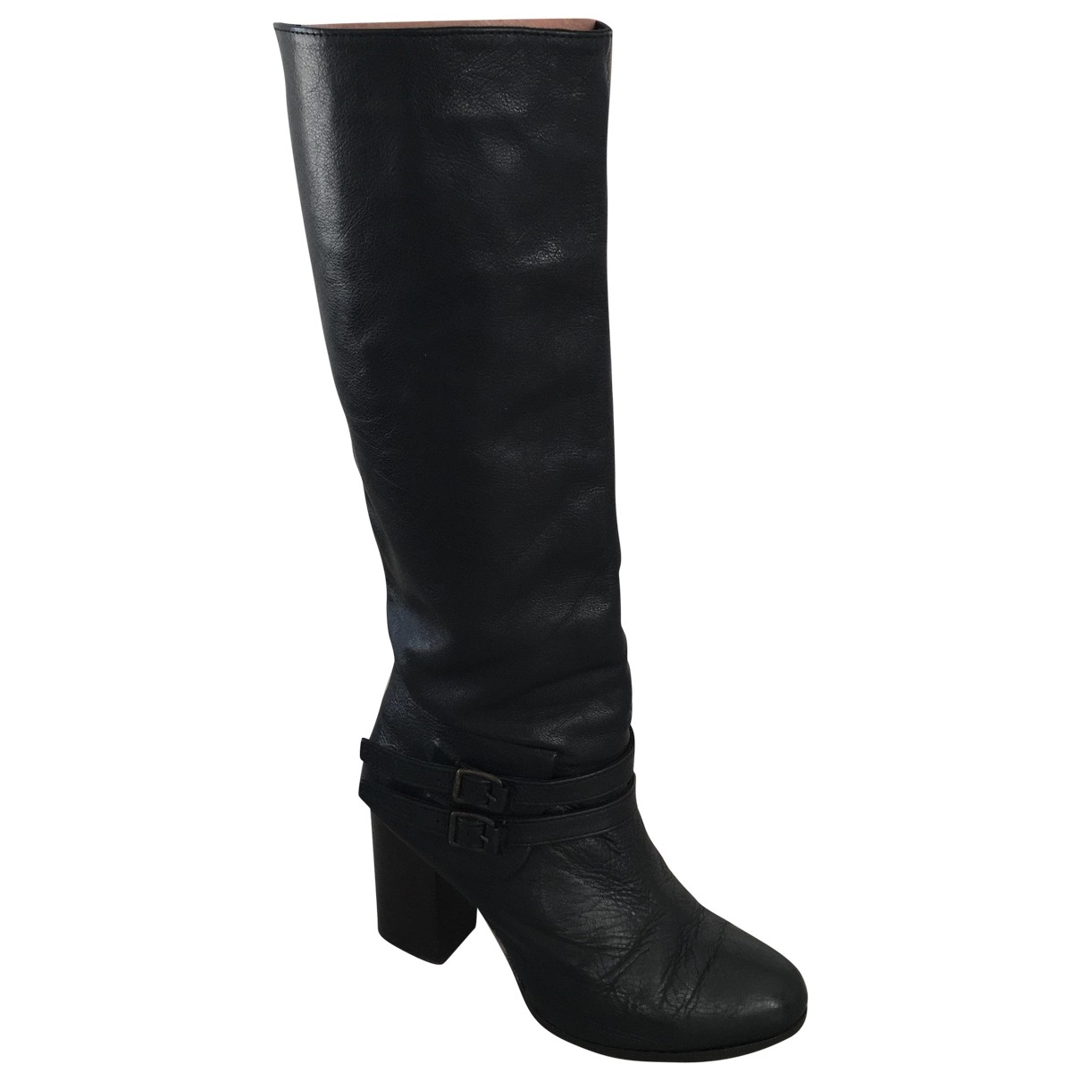 Vanessa Bruno \N Black Leather Boots for Women 37 EU