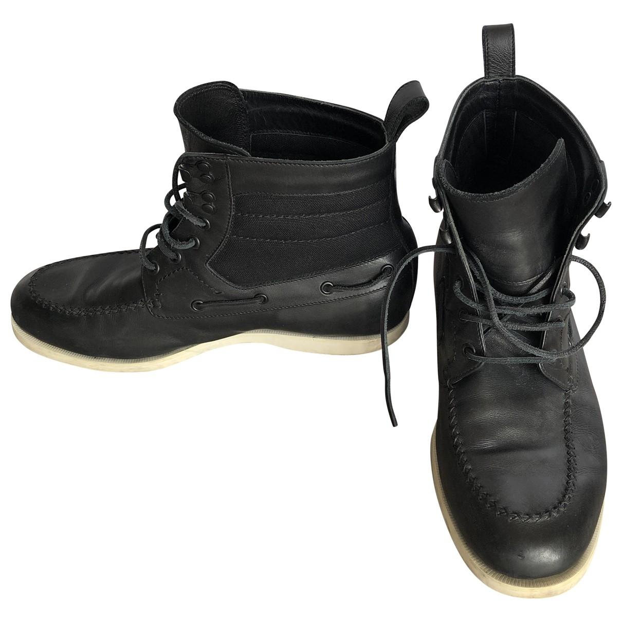 Bottega Veneta \N Black Leather Boots for Men 43.5 EU