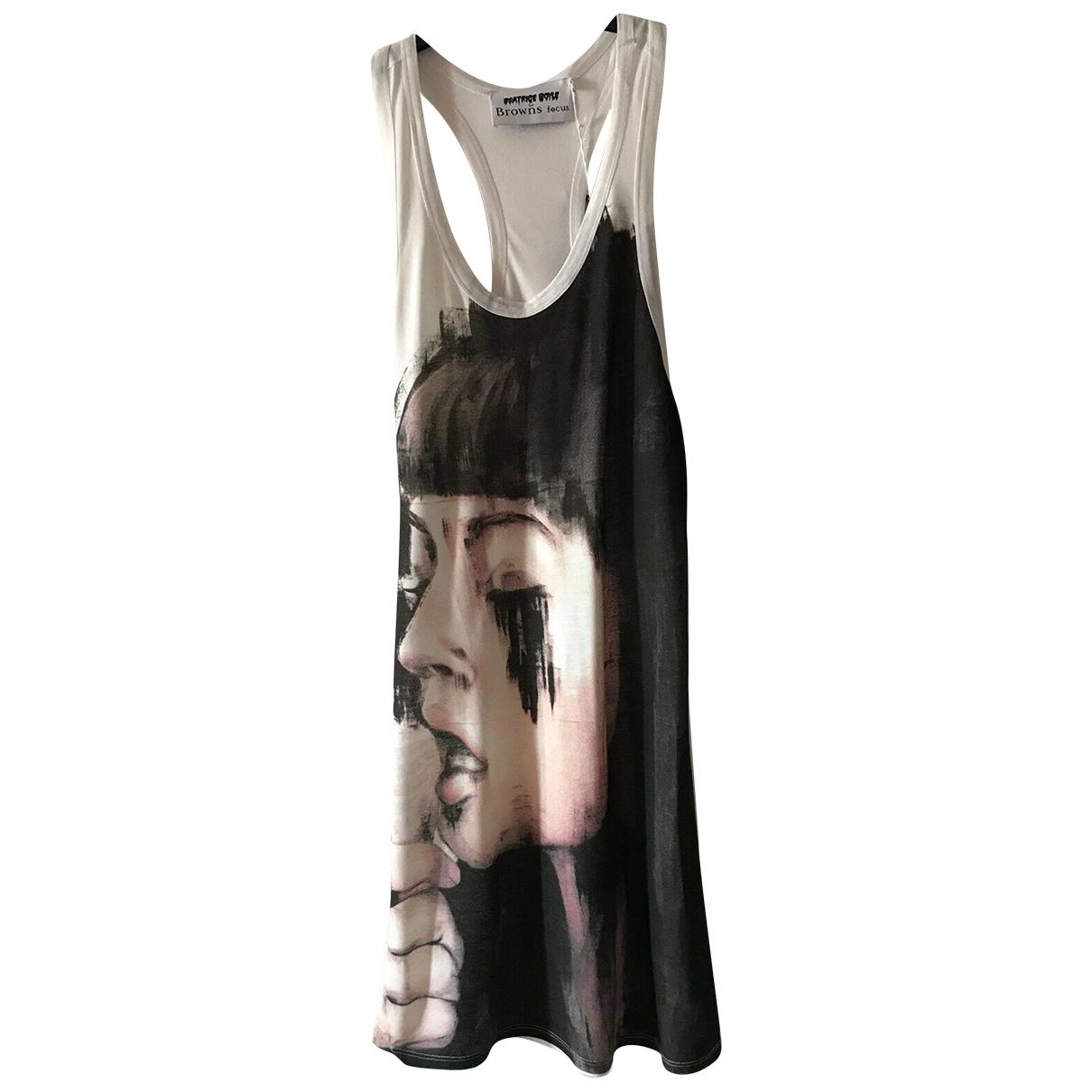 Browns \N Kleid in  Weiss Baumwolle