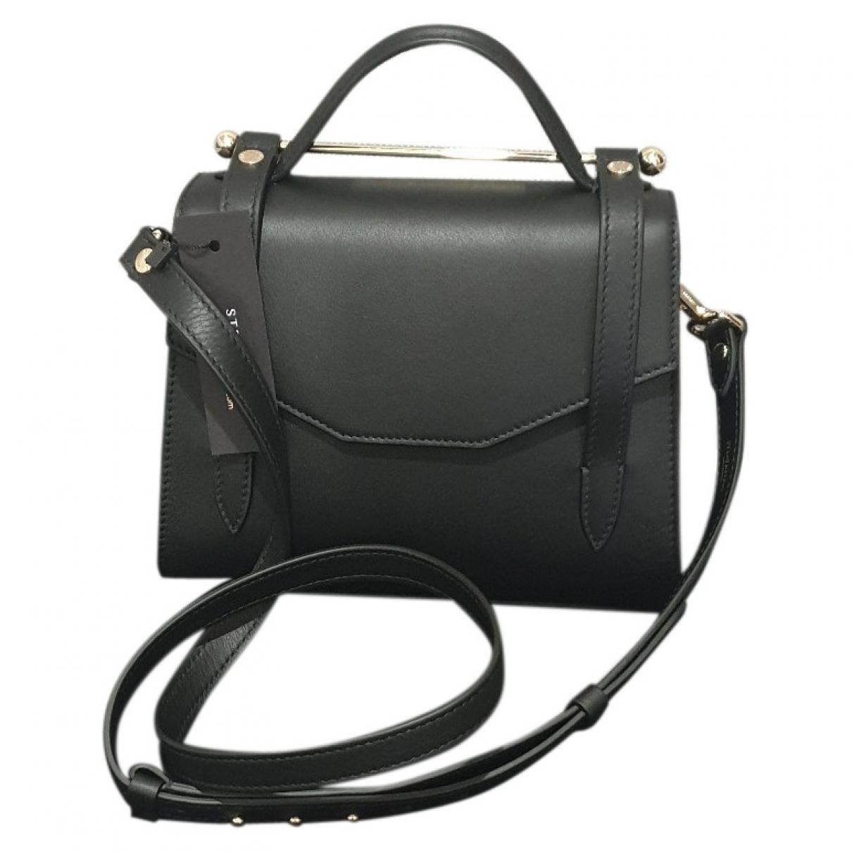 Strathberry \N Handtasche in  Schwarz Leder