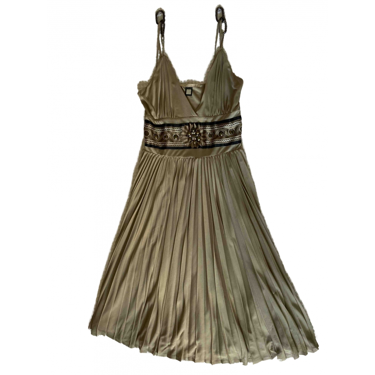 Class Cavalli \N Kleid in  Gold Polyester