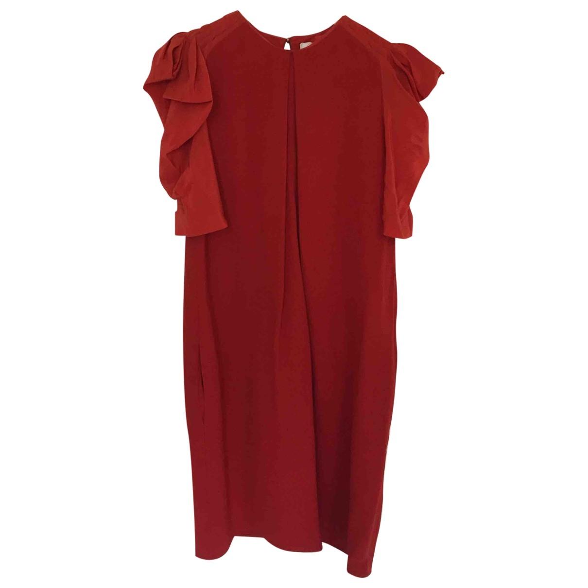 Chloe \N Kleid in  Orange Synthetik