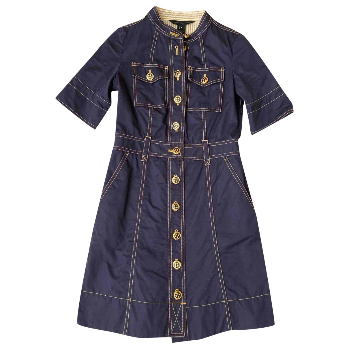 Marc By Marc Jacobs \N Navy Cotton dress for Women 2 US