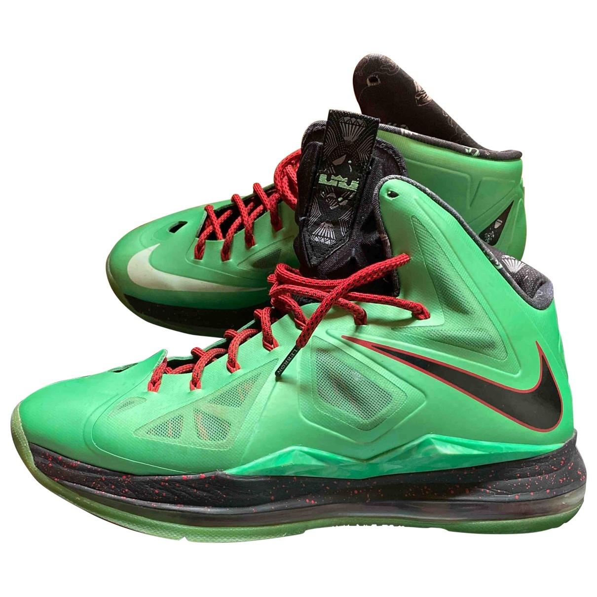 Nike Lebron X Kith - Baskets   pour homme - vert