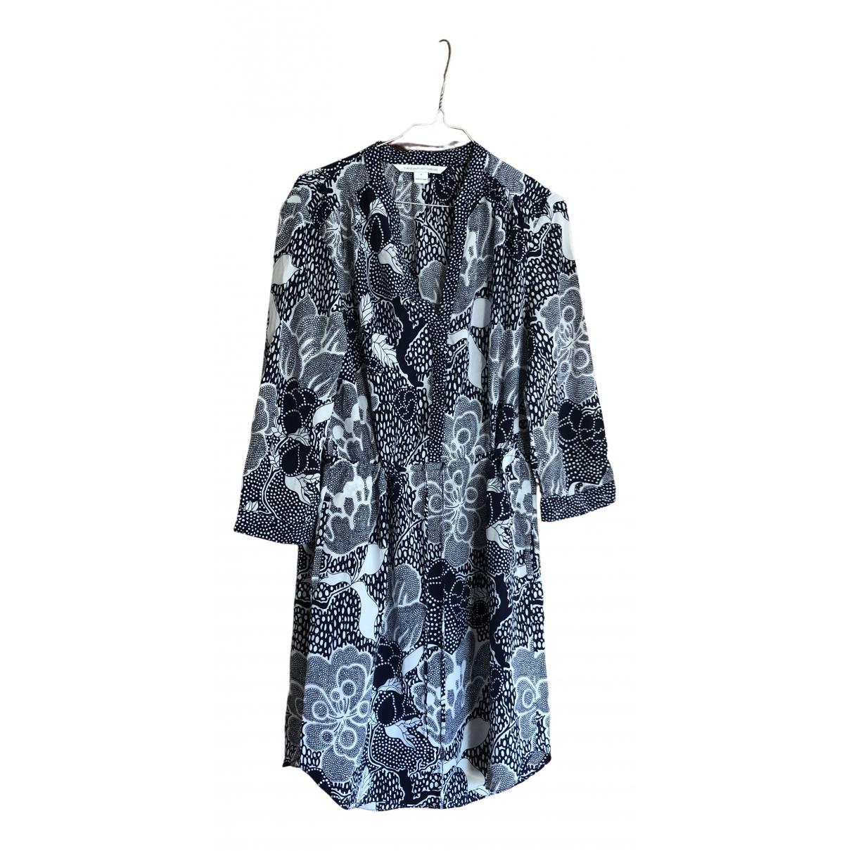 Diane Von Furstenberg \N Blue Silk dress for Women 12 US