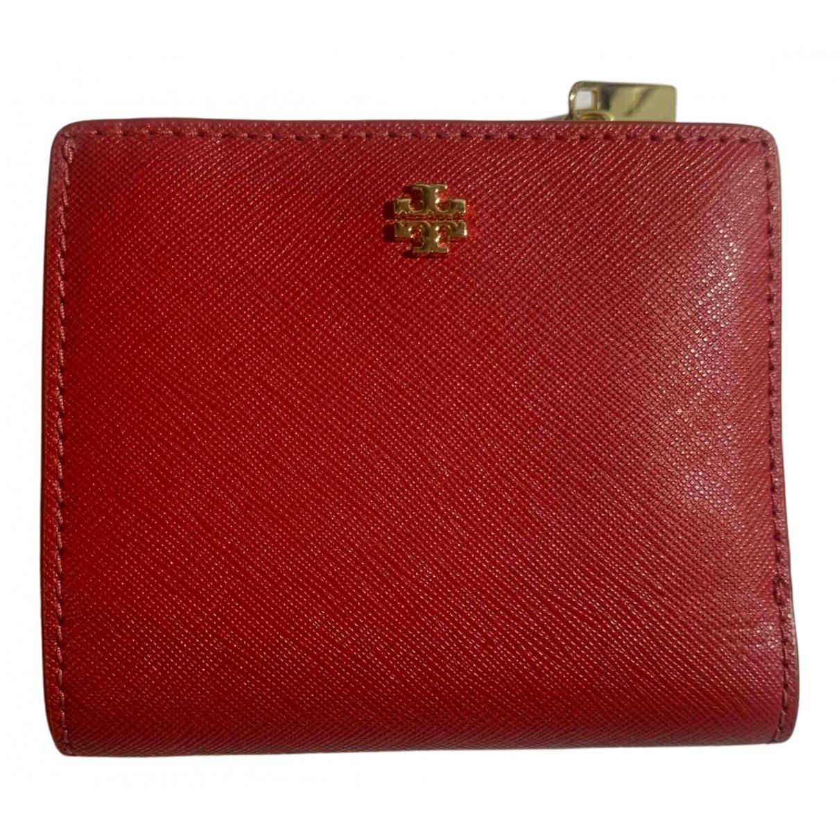 Tory Burch - Portefeuille   pour femme en cuir - rouge