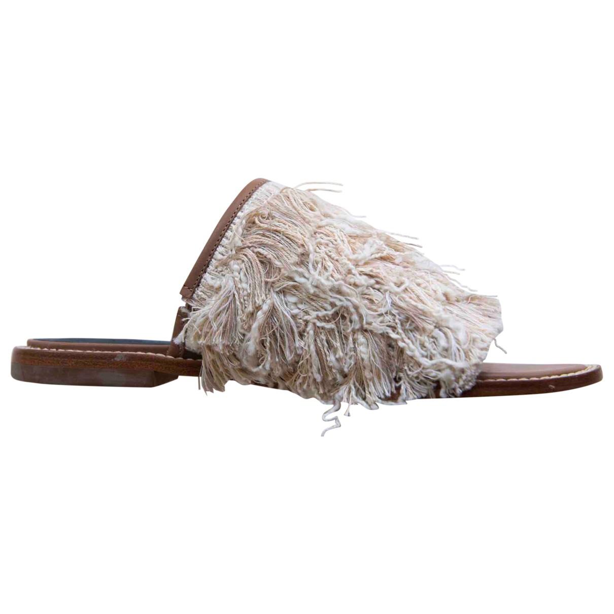 Tibi \N Sandalen in  Beige Leder