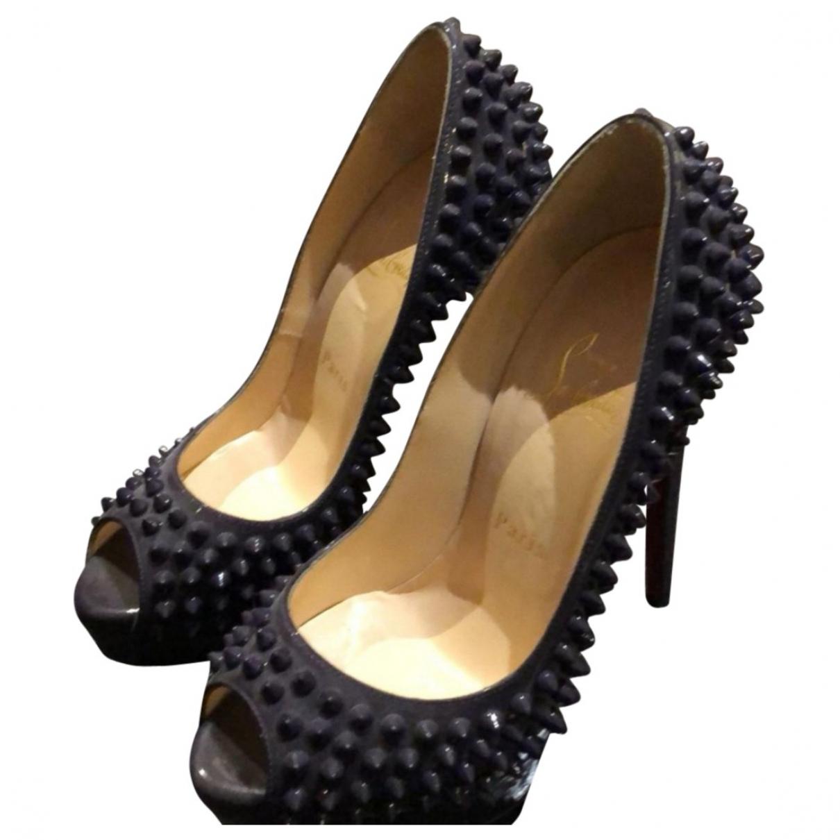Christian Louboutin Lady Peep Patent leather Heels for Women 36 EU