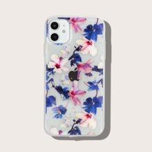 Transparente iPhone Huelle mit Blumen Muster