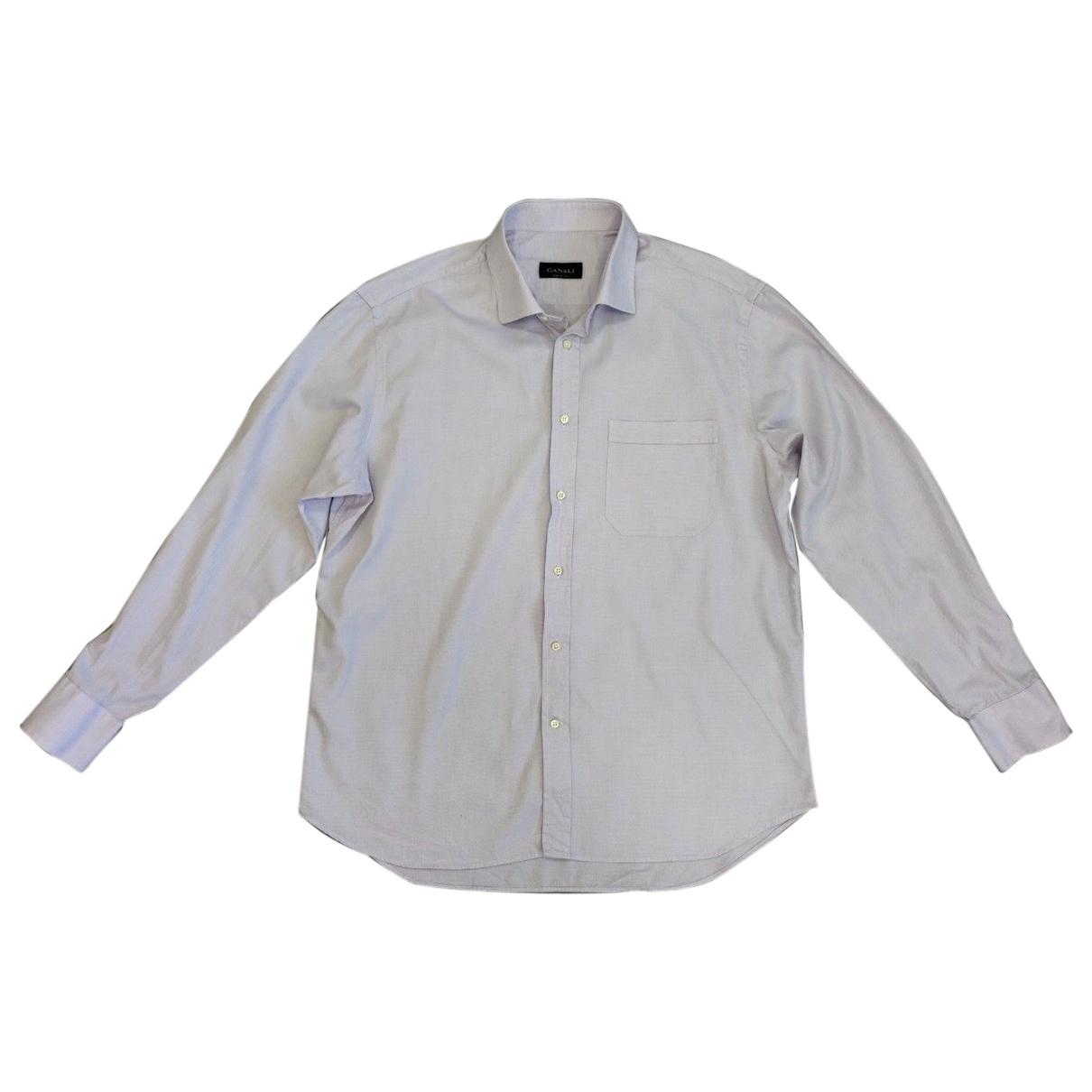 Canali \N Hemden in  Lila Baumwolle