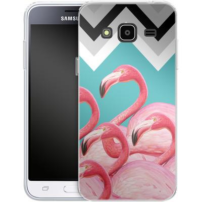 Samsung Galaxy J3 (2016) Silikon Handyhuelle - Flamingo Pattern von Mark Ashkenazi