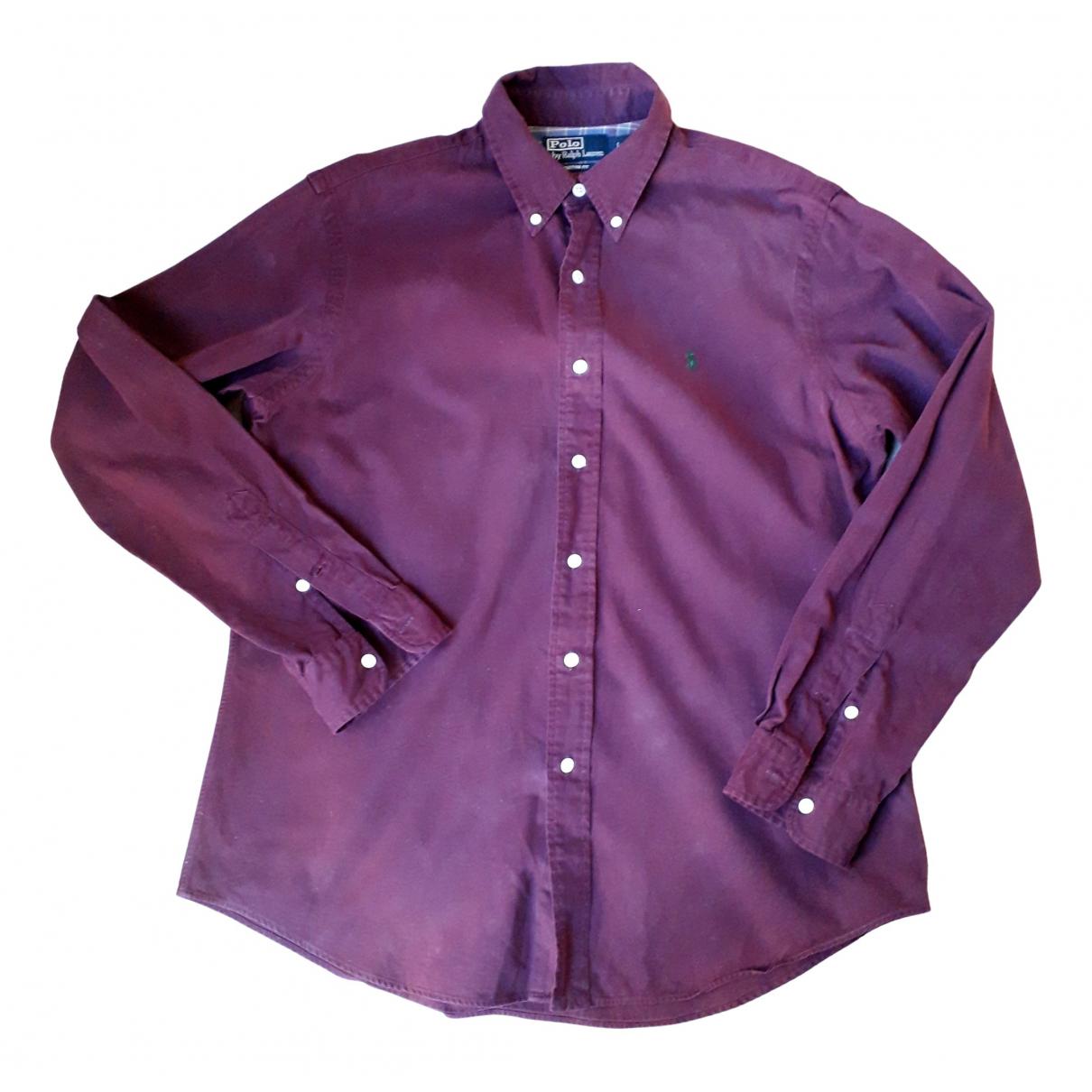 Polo Ralph Lauren - Chemises   pour homme en coton - bordeaux