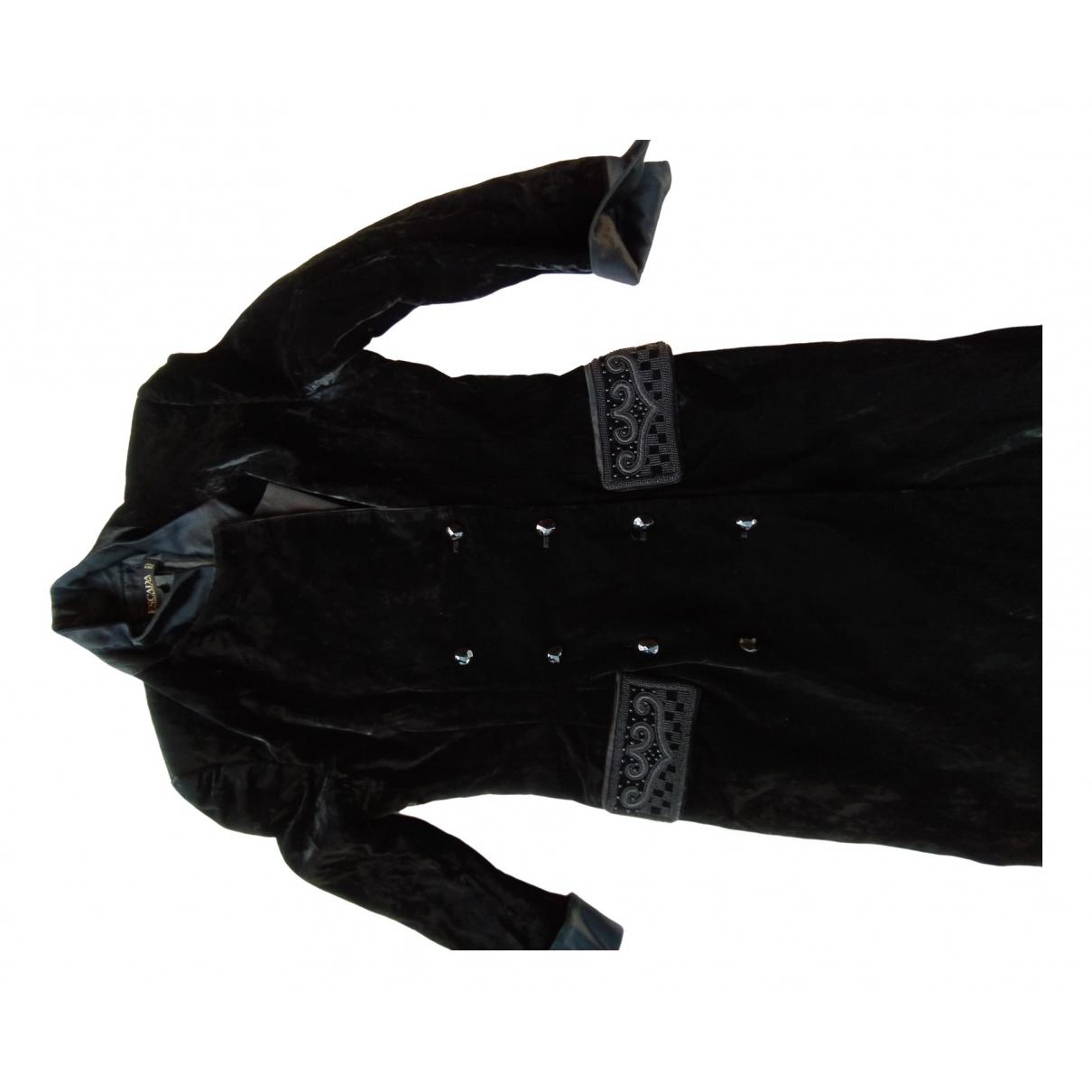 Escada \N Black Velvet coat for Women 40 FR