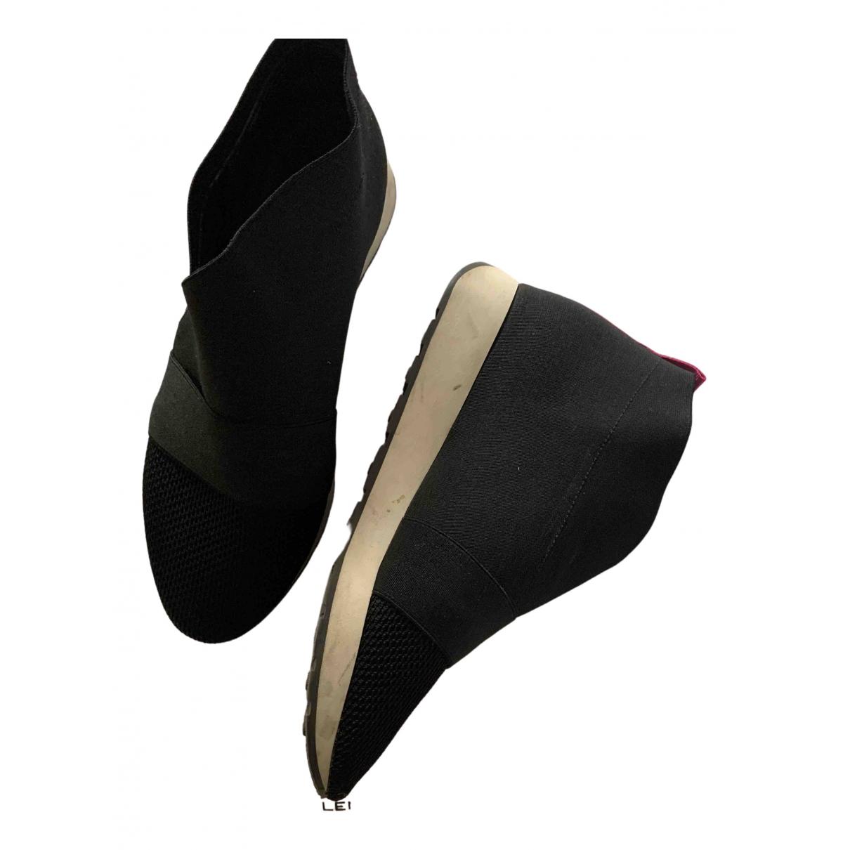 Balenciaga - Baskets   pour femme en toile - noir