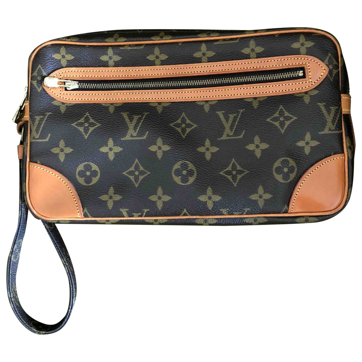 Louis Vuitton \N Kleinlederwaren in  Kamel Leinen