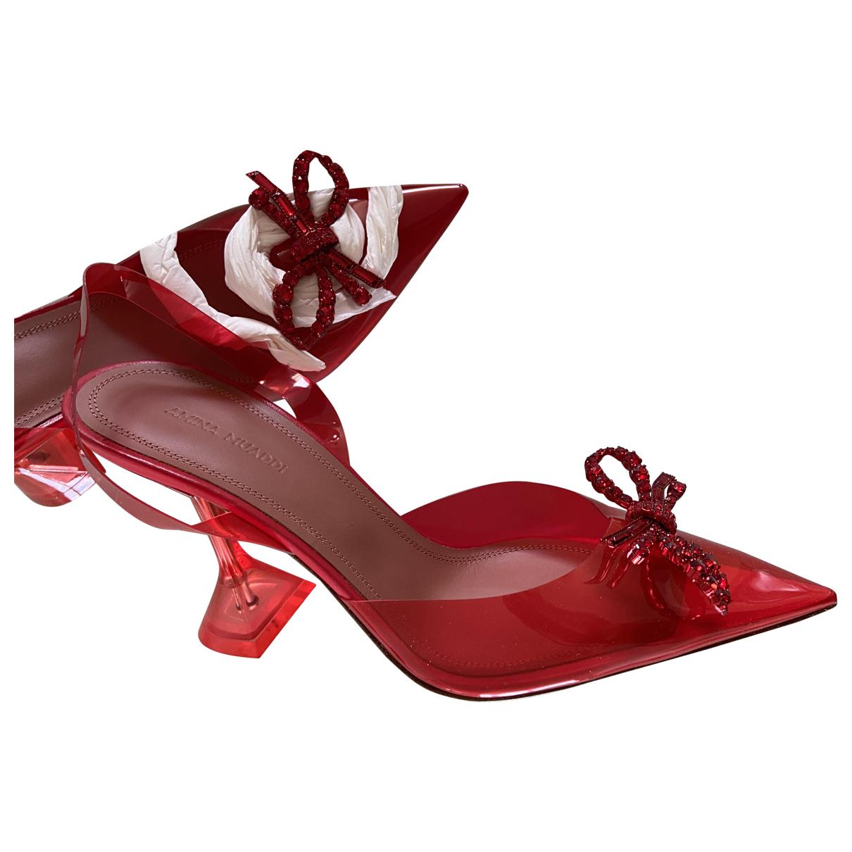 Amina Muaddi \N Red Heels for Women 39.5 EU