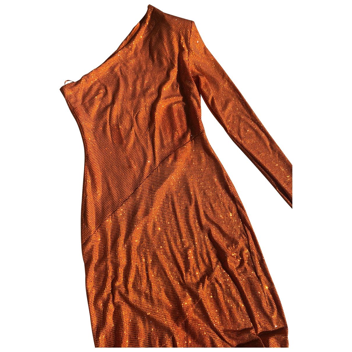 Alexandre Vauthier \N Kleid in  Orange Mit Pailletten
