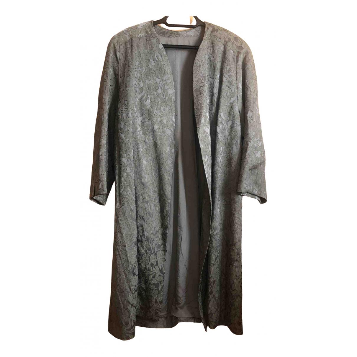 Non Signé / Unsigned \N Green Cotton jacket for Women XXXL International