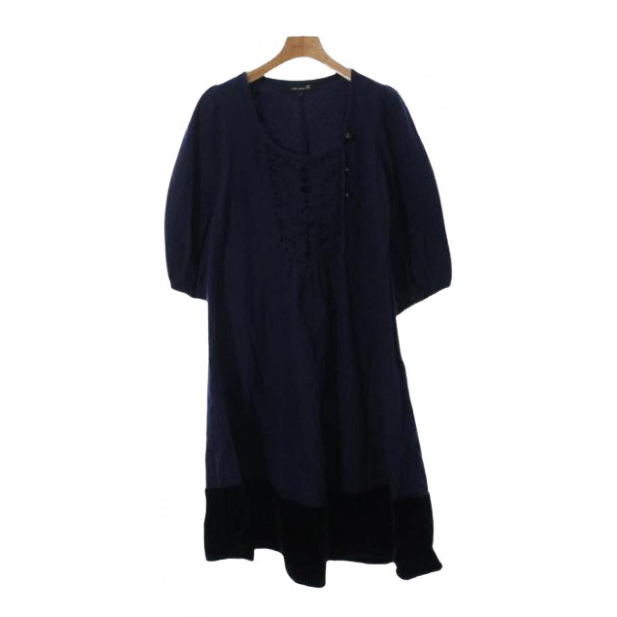 Isabel Marant \N Kleid in  Marine Baumwolle