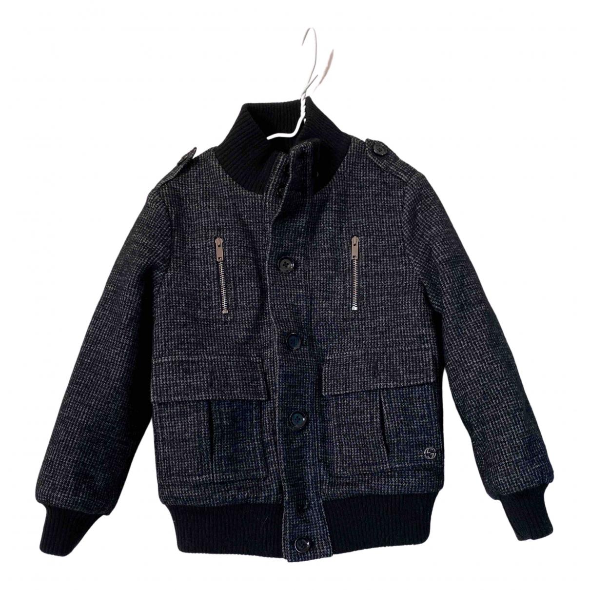 Gucci - Blousons.Manteaux   pour enfant en laine - noir