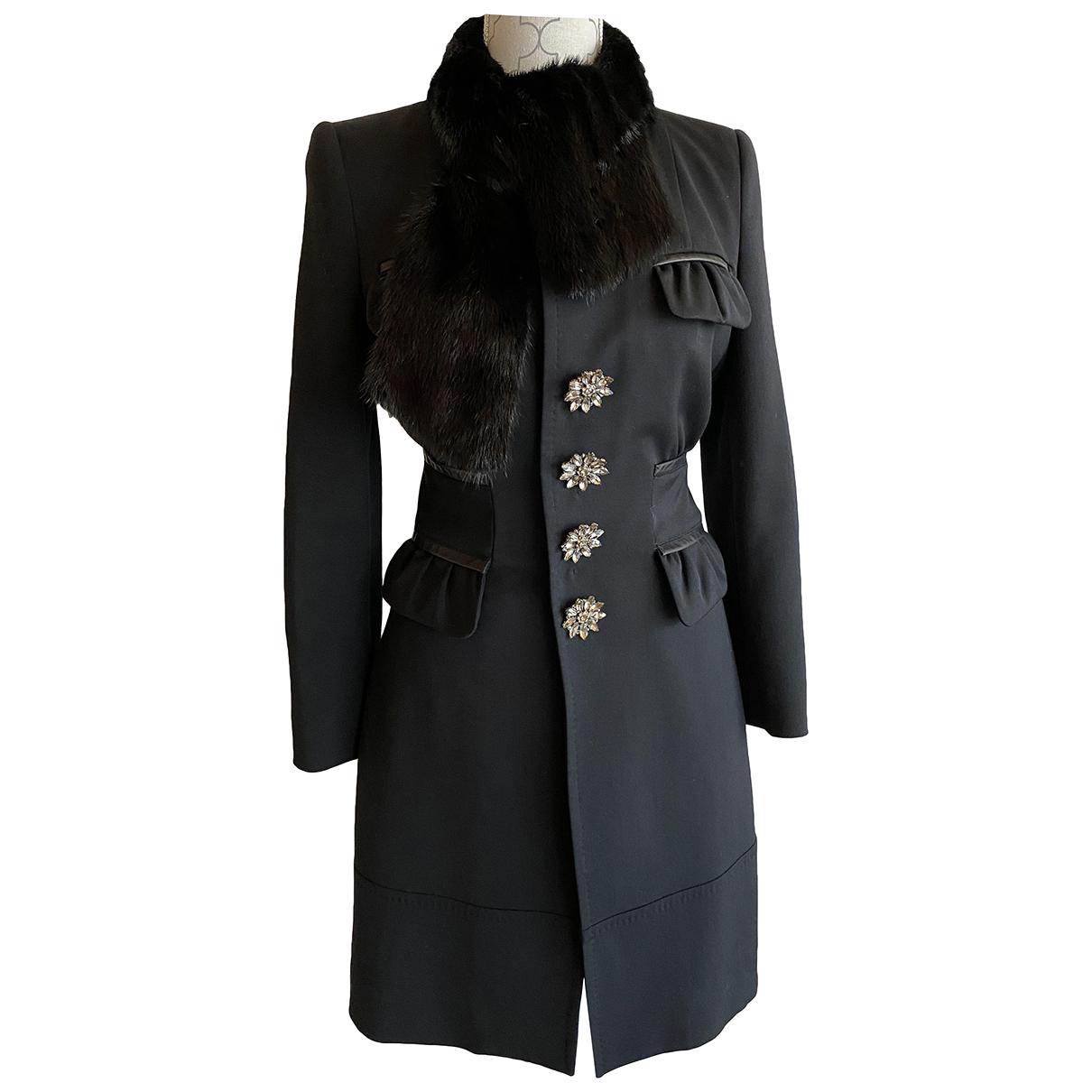 Dsquared2 - Manteau   pour femme en coton - noir